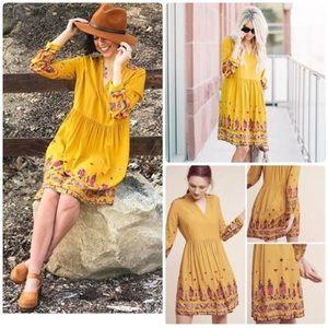 Anthropologie Floreat Raella Embroidered Dress